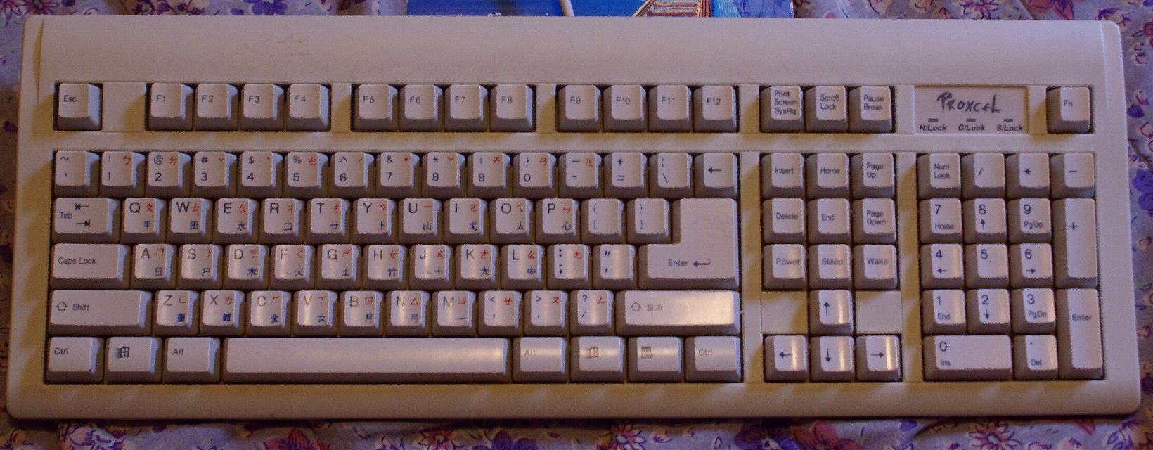 Keyboards for genuinely large character sets biocorpaavc